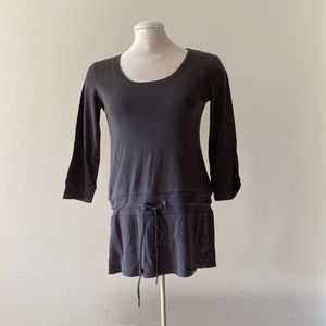 Esprit grey long sleeved tunic with drawstring